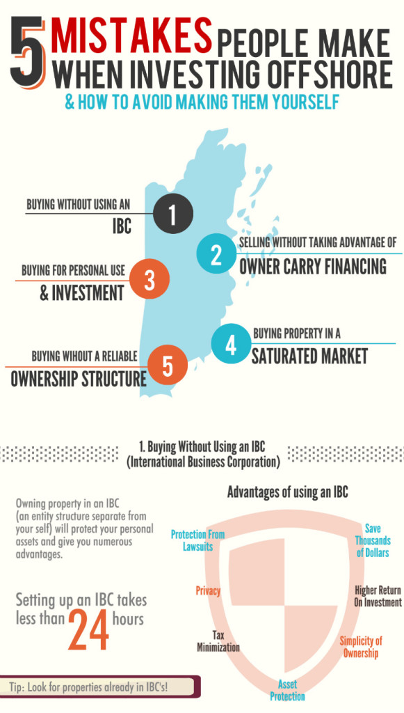 5 Mistakes People Make When Investing Offshore Infographic Design
