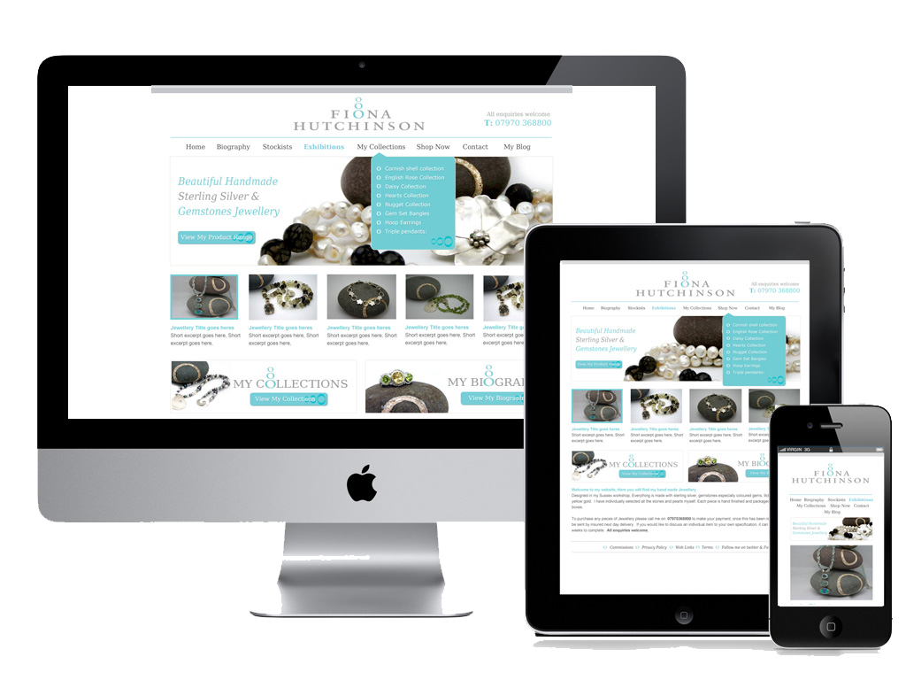 desktop tablet and mobile responsive website